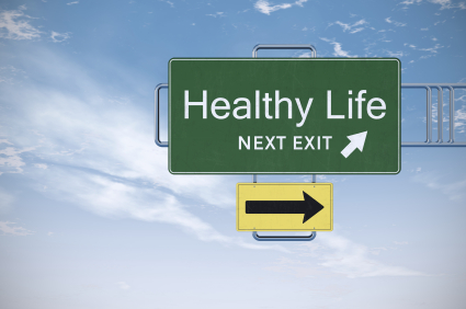 Road Sign Series - Healthy Life Royalty Free Stock Photo