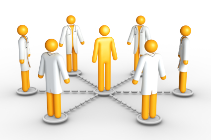 Healthcare network (isolated) Royalty Free Stock Photo